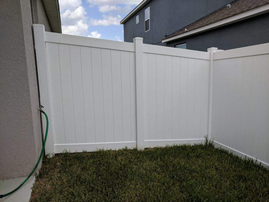 White Vinyl Privacy Fence Hercules Fence Company