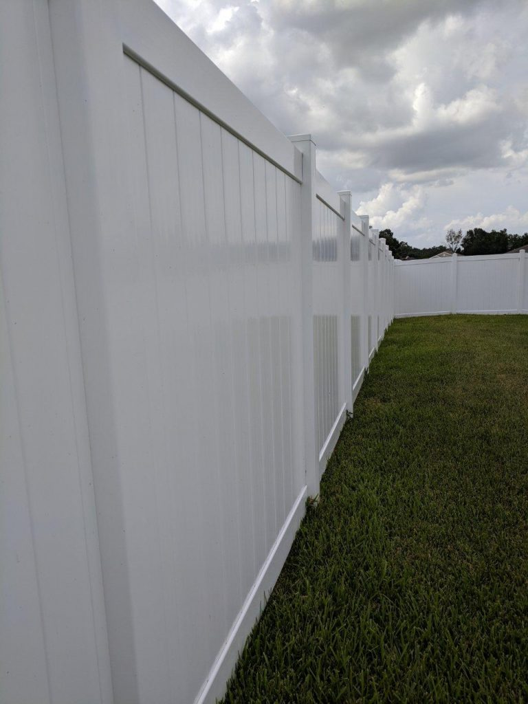 White Vinyl Privacy Fence Hercules Fence Company